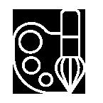 Taide ja luova ilmaisu -ikoni